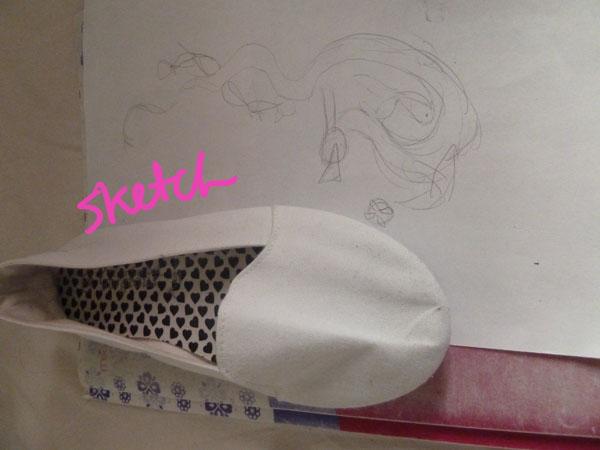 Step 2 diy doodle shoe