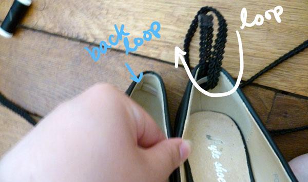 Step 2.2 diy ankle wrap pumps