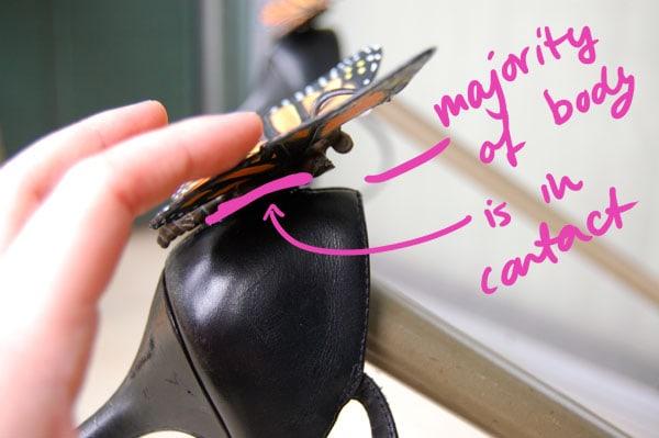 Step 3.1 DIY Butterfly Heels