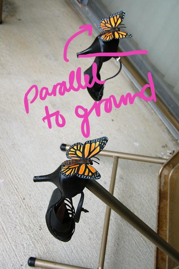 Step 4 DIY Butterfly Heels