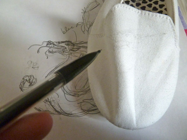 Step 4 diy doodle shoe
