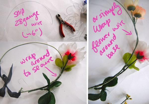 Step 4.1 diy floral crown
