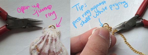 Step 4.1 DIY Seashell Necklace