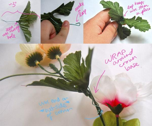 Step 4.2 diy floral crown