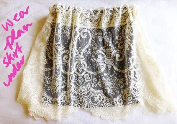 Step 5 diy lace skirt