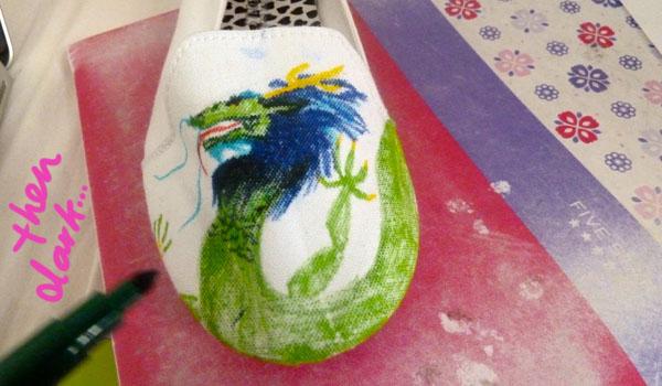 Step 5.2 diy doodle shoe