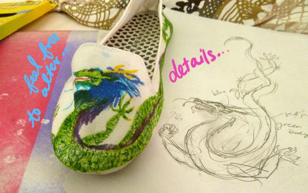 Step 6.1 diy doodle shoe