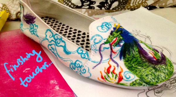 Step 6.2 diy doodle shoe