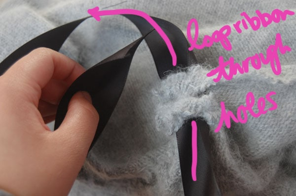 Step Five DIY Bow Sweater