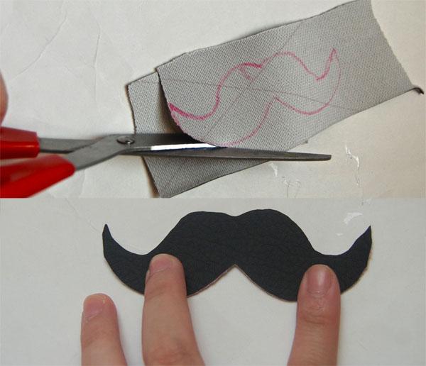 Step Four DIY Moustache Necklace