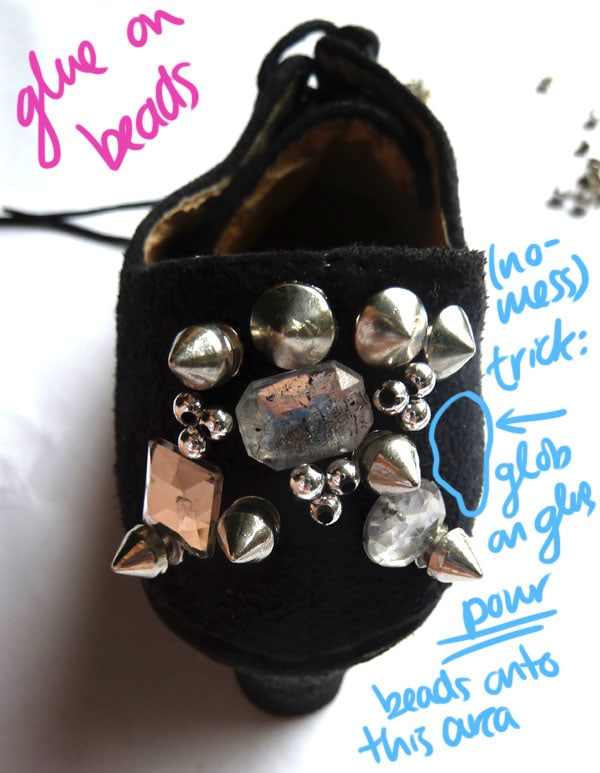 Step One Beads DIY Spike Shoe