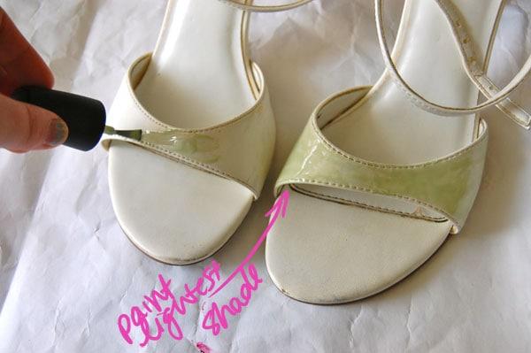 Step One DIY Paint Splatter Heels