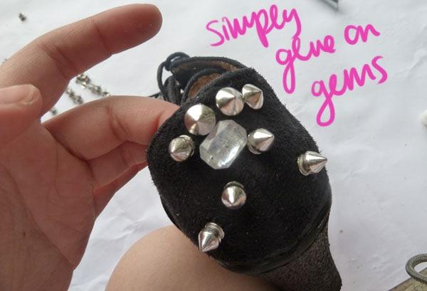 Step One Gems DIY Spike Shoe