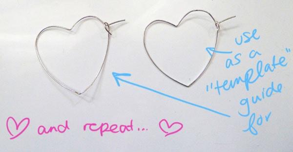 Step Ten DIY Heart Earrings