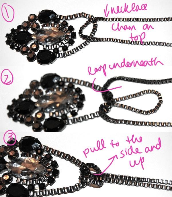 Step Three DIY Pendant Belt Knot