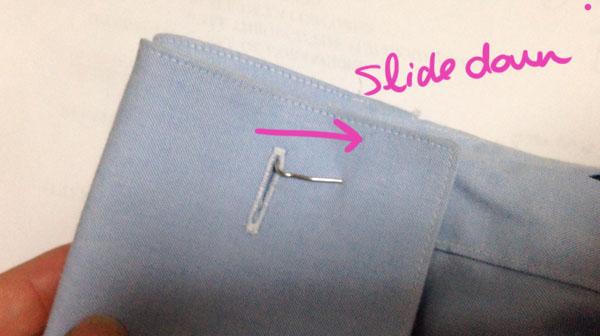 Step three diy cufflinks