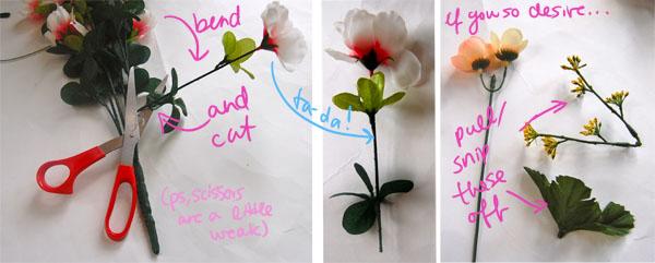 Step three diy floral crown