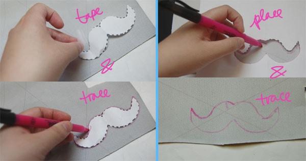 Step Three DIY Moustache Necklace