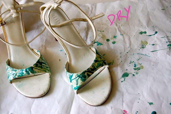 Step Three DIY Paint Splatter Heels