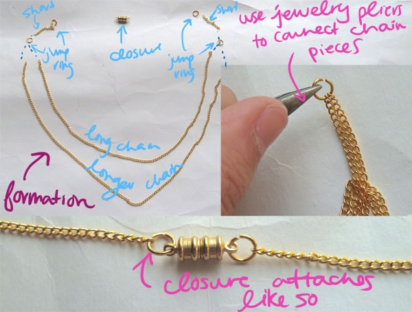 Step Three DIY Seashell Necklace