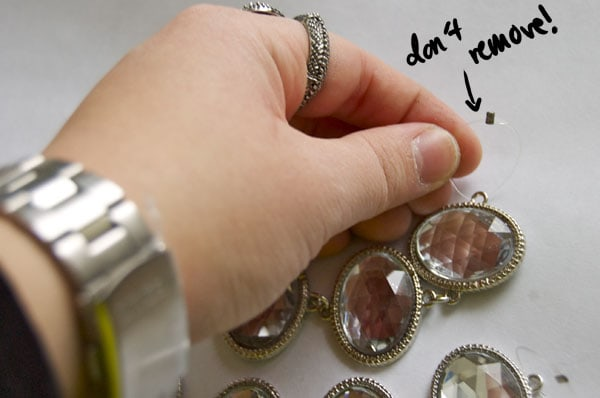 Step Two DIY Holiday Necklace