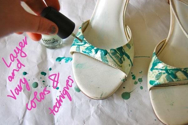 Step Two Vary Paint Splatter