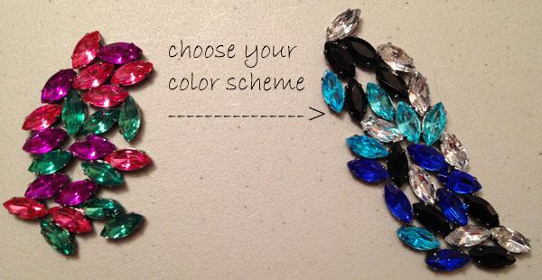 Step1 diy jeweled clutch