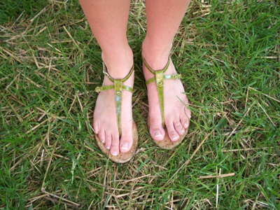 Sandals on a Stephens College fashionista