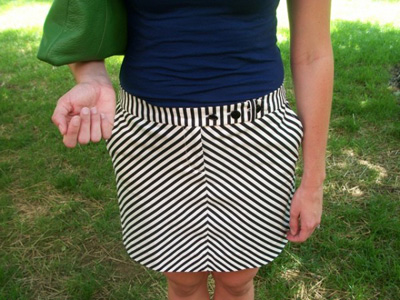 Skirt on a Stephens College fashionista