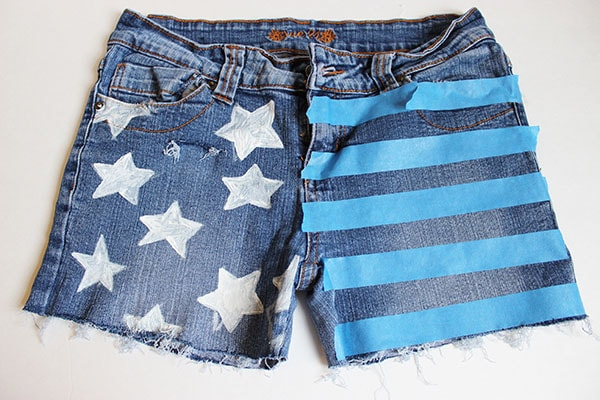 Step two part 2 flag shorts