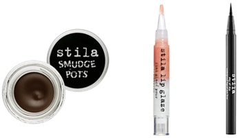 Stila Makeup: Smudge pots, Lip Glaze, and liquid eyeliner