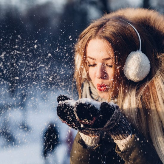 girl in cold weather