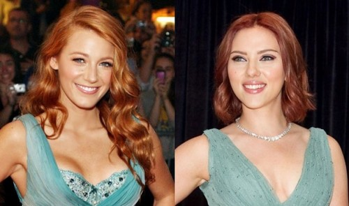 The red hair trend on Blake Lively and Scarlett Johansson