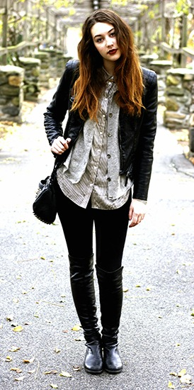 Student street style at Sarah Lawrence College
