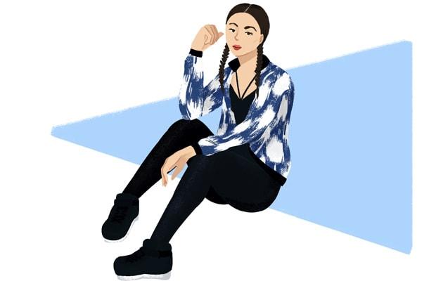 Street fashion bomber jacket illustration by Stacey Abidi
