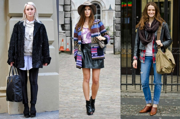 Street style featuring leather