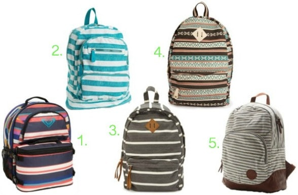 Stripe backpacks