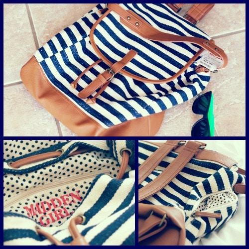 Stripe madden girl backpack