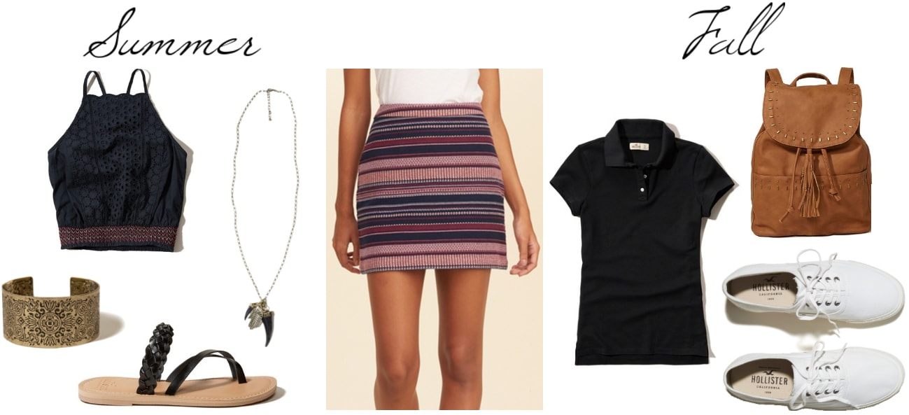 How to wear a striped skirt in summer and fall