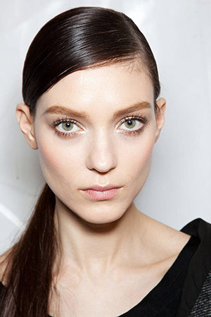 Strong Eyebrows seen at Christian Dior Fall 2012 RTW