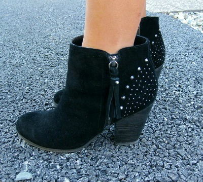 Studded ankle boots college fashion trend