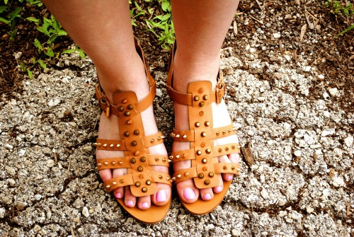 Studded sandals at mount mary university