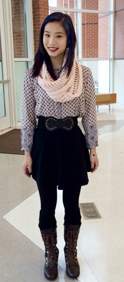 Student fashionista at DePauw university