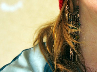 Student street style one earring