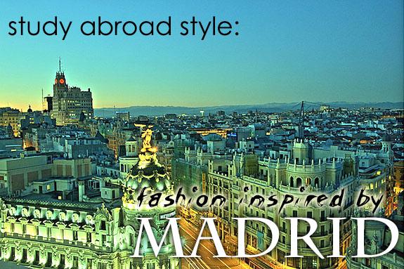 Study abroad style madrid