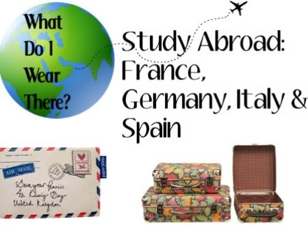 What to wear for study abroad in Germany, France, Italy, and Spain