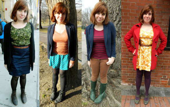Style challenge outfits: Wear color every day