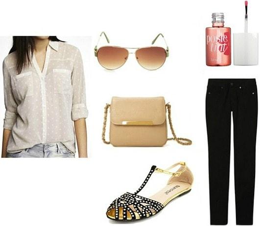 Style remix pocket blouse neutrals