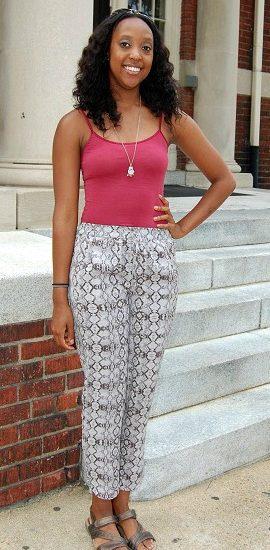 Stylish college student at Virginia Commonwealth University