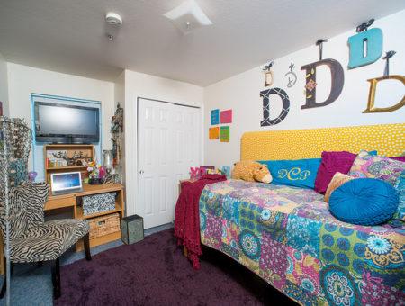 stylish dorm room
